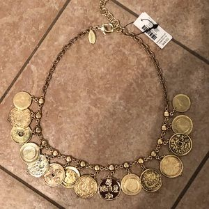 Chico's gold coin necklace